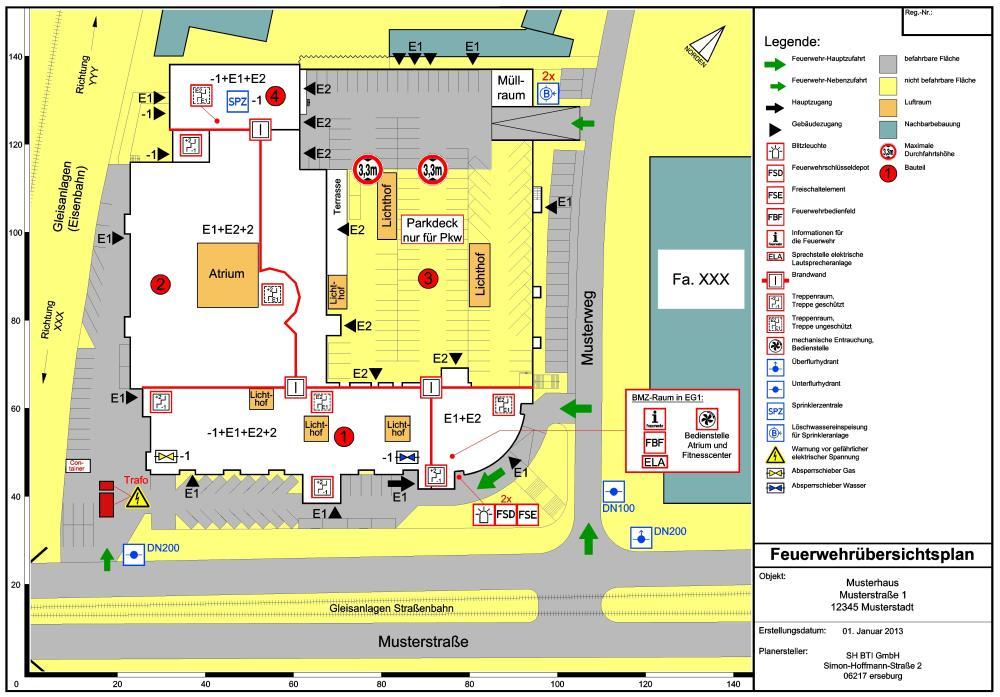 Feuerwehrplan Sicherheitstechnik Glossar Baunetz Wissen